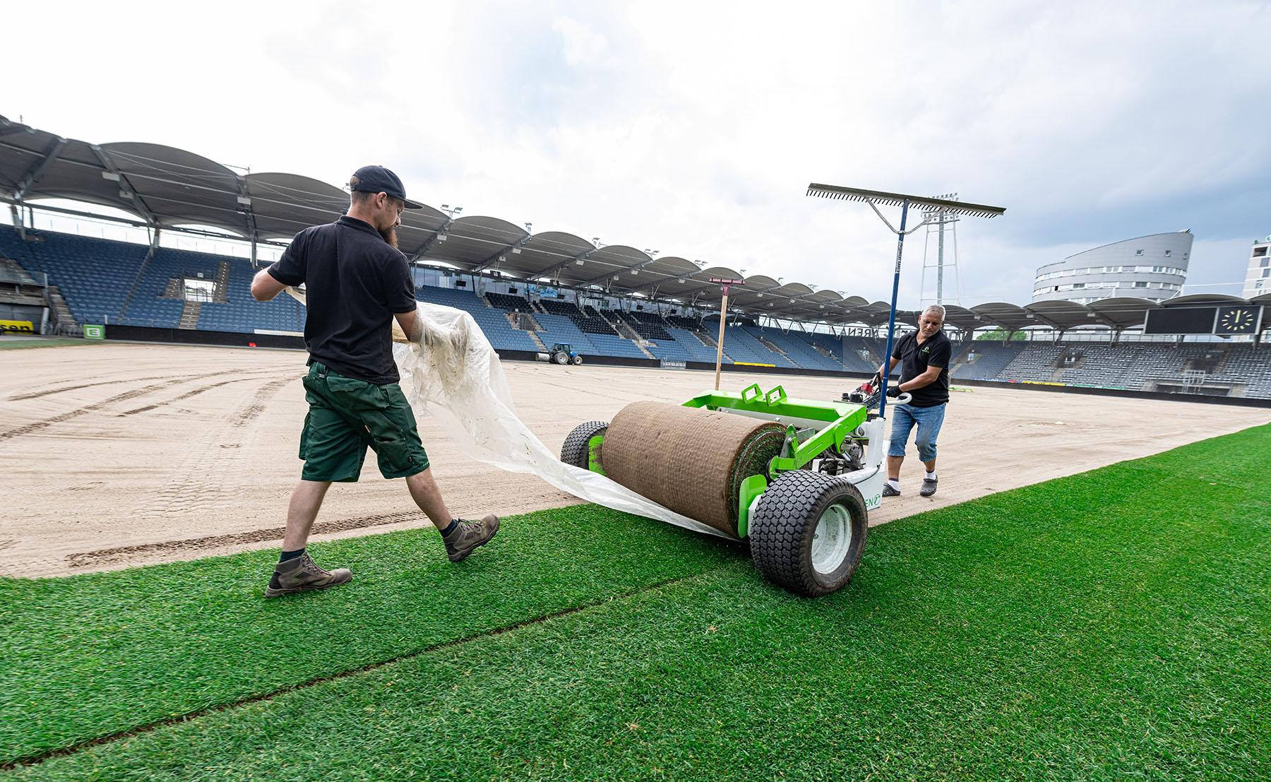 Merkur Arena in Graz Liebenau erhält einen neuen Rasen (c) MCG, Wiesner