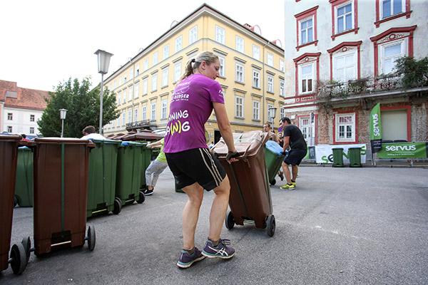 Teilnehmerin beim Grazathlon