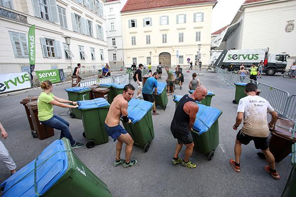 Teilnehmer beim Grazathlon